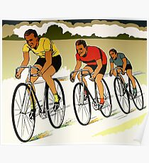 The race (cycling) retro vector art Poster