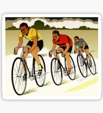 The race (cycling) retro vector art Sticker