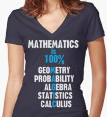 Mathematics Women's Fitted V-Neck T-Shirt