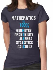 Mathematics Womens Fitted T-Shirt
