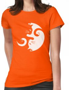 Yin Yang Cats Womens Fitted T-Shirt