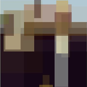 Wood: American Gothic (computer-generated abstract version) by flatfrog00