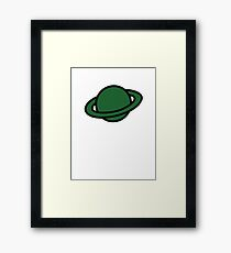 Captain Saturn Framed Print