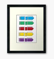 Colourful Arrow Print Framed Print