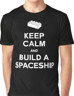 Keep Calm and Build a Spaceship Graphic T-Shirt