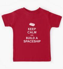 Keep Calm and Build a Spaceship Kids Tee