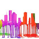 Houston, Texas Skyline Pfützen von Marlene Watson