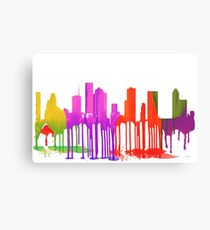 Houston, Texas Skyline Puddles Canvas Print