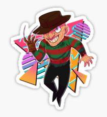 80s Horror Icons- Freddy Krueger Sticker