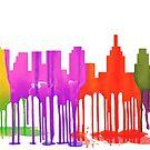 Philadelphia, Pennsylvania Skyline Pfützen von Marlene Watson