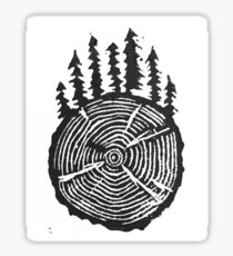 the wisdom is in the trees Sticker