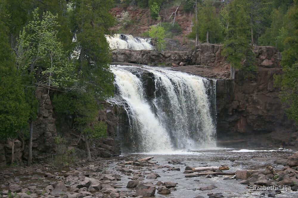 Temperance River Falls by Elizabeth  Lilja