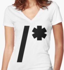 CSS Comment Women's Fitted V-Neck T-Shirt