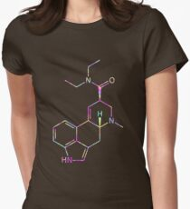 LSD Molecule (Psychedelic) Womens Fitted T-Shirt