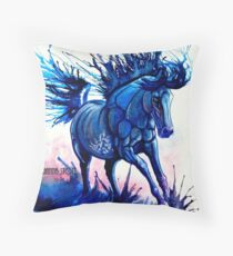 Splash Dance Running Through Water Horse Throw Pillow