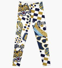Quinnipiac University Collage  Leggings
