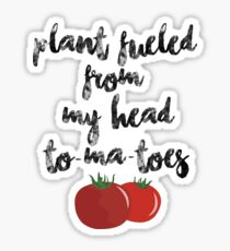 Plant Fueled - Vegan/Vegetarian  Sticker