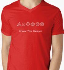 Choose Your Weapon Men's V-Neck T-Shirt