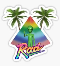 Rad Alien Sticker