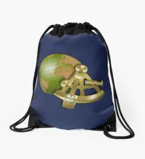 Vintage Globe and Sextant Drawstring Bag