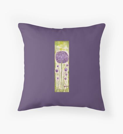 Cheerful Chives Throw Pillow