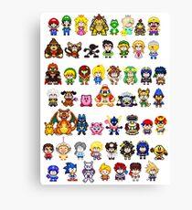 Super Smash Bros Wii U - Pixel Art Characters Canvas Print