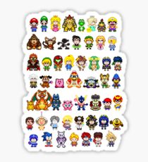 Super Smash Bros Wii U - Pixel Art Characters Sticker
