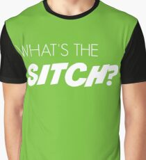 What's the sitch? in white Graphic T-Shirt