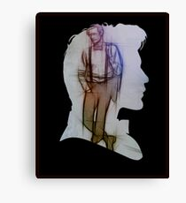 The Eleventh Doctor Silhouette with pencil sketch Canvas Print