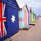 Brighton Beach Huts by Rossman72