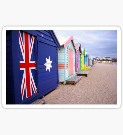 Brighton Beach Huts Sticker