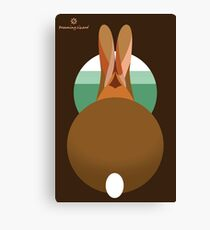 rabbit in a burrow  Canvas Print