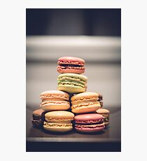 French Macaron Sweets Photographic Print