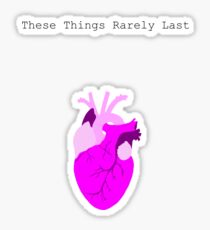 These Things Rarely last Sticker