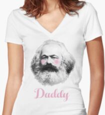 Daddy Karl Women's Fitted V-Neck T-Shirt