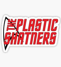 Plastic Shatners Red Logo Sticker