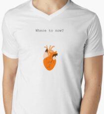 Where to Now? Mens V-Neck T-Shirt
