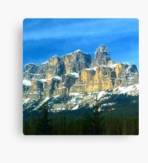 Mountains in Banff canada Canvas Print