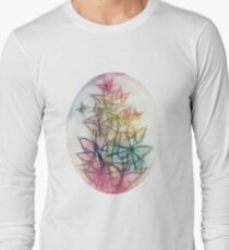 Rainbow Colored Butterfly Sketch Drawing T-Shirt
