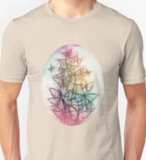 Rainbow Colored Butterfly Sketch Drawing Unisex T-Shirt
