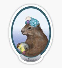 Psychic Groundhog Predicts the Future Sticker
