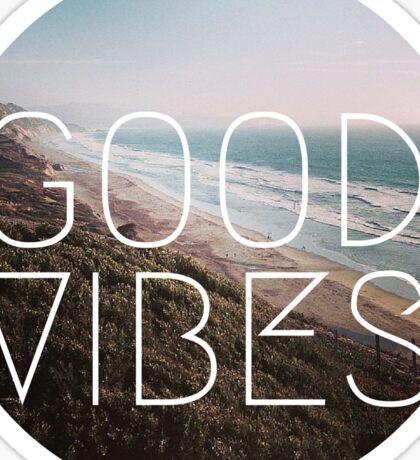 Good Vibes Cool Beach Tumblr Hipster lyrics summer wanderlust Print Sticker