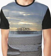 West Pier Brighton Grafik T-Shirt