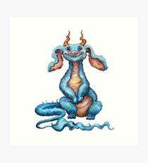 Little Luck Dragon Art Print