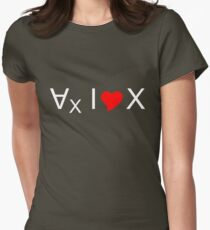 For all values of x, I love x! - light text T-Shirt