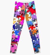 """Jigsaw Pieces"" graphic art Leggings"