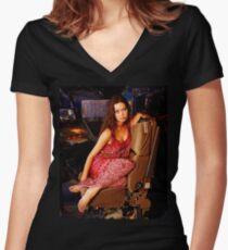 River Tam Women's Fitted V-Neck T-Shirt