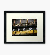Clocks - Flinders Street - Melbourne Framed Print