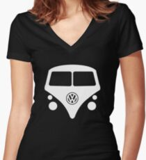 Split Window Kombi Women's Fitted V-Neck T-Shirt