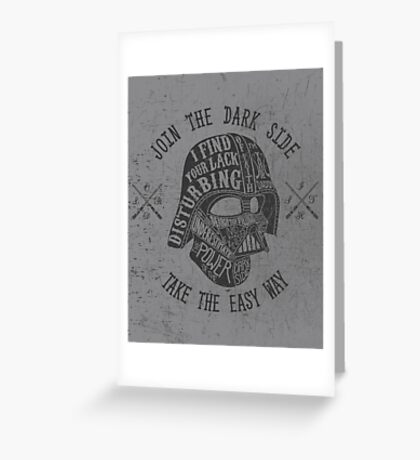 The easy way. Greeting Card